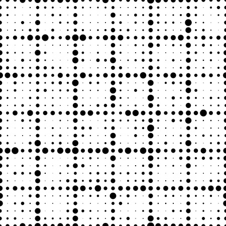 geometric lines: Seamless Circle Pattern. Vector Black and White Background Illustration