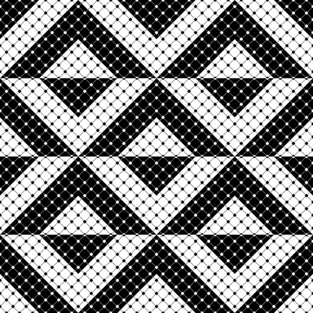 monochrome: Seamless Triangle Pattern. Abstract Monochrome Background. Vector Regular Texture Illustration