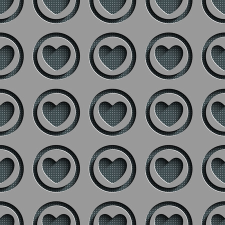 gray texture background: Seamless Heart Pattern. Abstract Gray Background. Vector Regular Texture