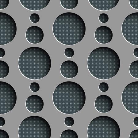 Modelo del círculo sin fisuras. Vector gris textura regular