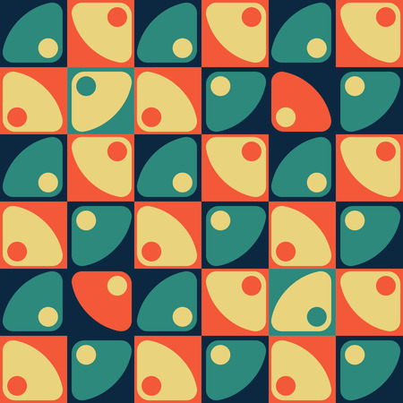 triangle pattern: Seamless Square, Triangle and Circle Pattern. Vector Regular Texture