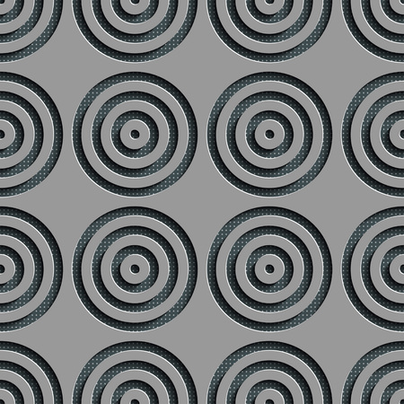 regular: Seamless Circle Pattern. Vector Gray Regular Texture Illustration