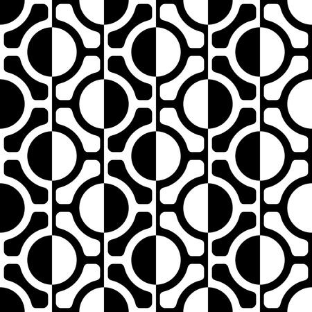 Seamless Grid Pattern. Vector Black and White Background. Regular Texture Stock Illustratie
