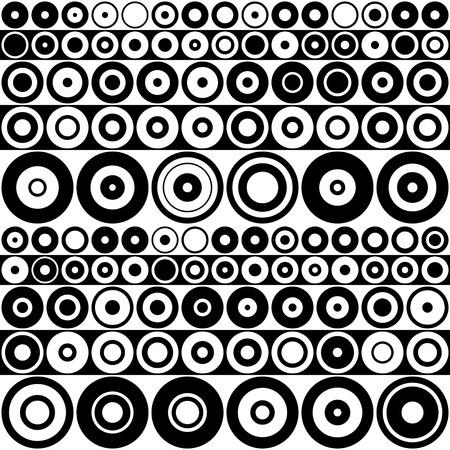 circle abstract: Seamless Circle Background. Abstract Monochrome Pattern