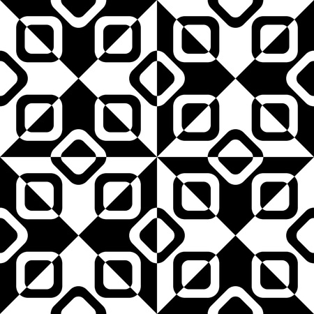 decorative background: Seamless Triangle and Square Pattern. Illustration