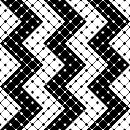regular: Seamless ZigZag Pattern. Abstract  Monochrome Background. Vector Regular Texture Illustration
