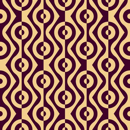 geometric lines: Seamless Curved Shape Pattern. Illustration