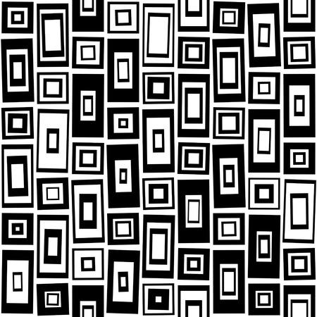 Modèle carré sans soudure. Abstrait noir et blanc. Texture régulière de vecteur