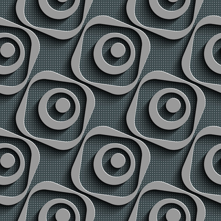regular: Seamless Square and Circle Pattern. Vector Regular Texture