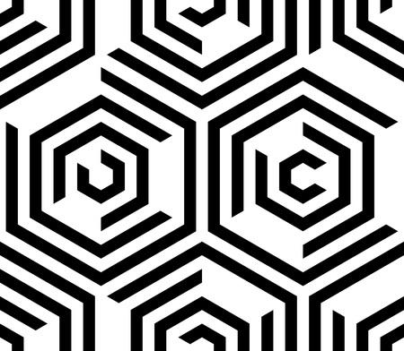 Nahtlose Hexagon-Muster. Vector monochromen Hintergrund Vektorgrafik