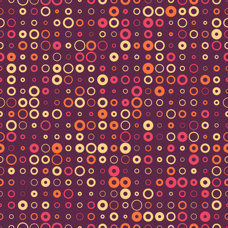 vinous: Seamless Circle Pattern. Abstract Black and White Background. Vector Regular Texture