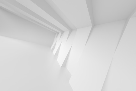 minimal: Abstract Interior Background. White Empty Room