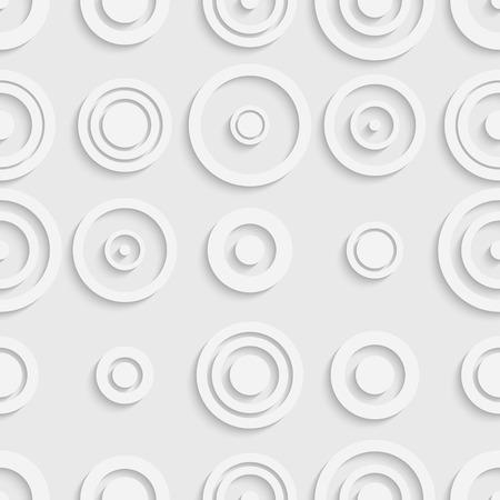 ellipses: Seamless Ellipse Pattern. Vector Soft Background. Regular White Texture Illustration