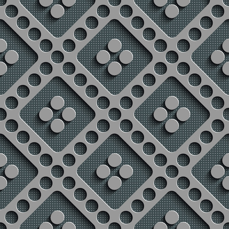 diagonal: Seamless Circle and Diagonal Stripe Pattern. Vector Gray Regular Texture