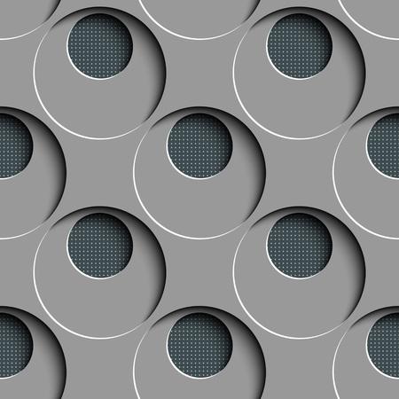regular: Seamless Circle Pattern. Vector Gray Regular Texture Illustration