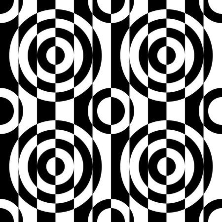 regular: Seamless Circle and Stripe Pattern. Vector Regular Texture