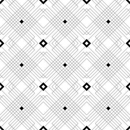 Motif de ligne carré sans couture. Vecteur noir et blanc Texture Vecteurs