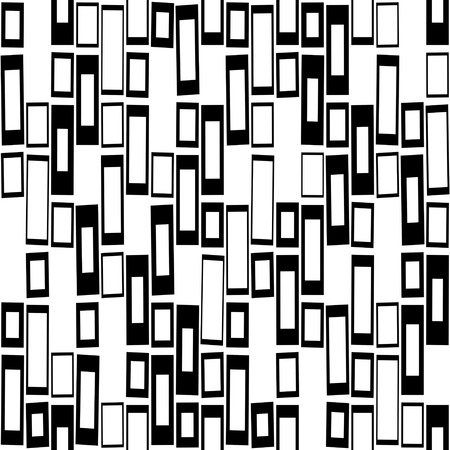 black and white: Seamless Geometric Pattern. Vector Black and White Texture