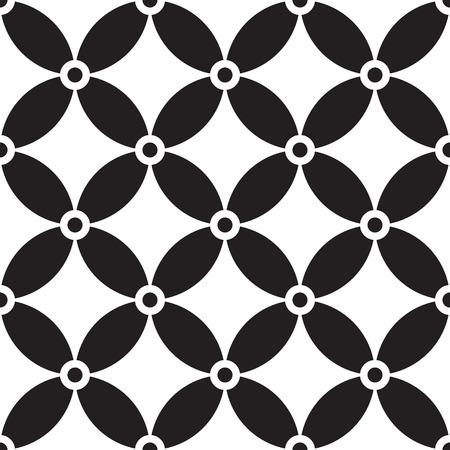 Seamless Circle Pattern. Vector Regular Texture Illustration
