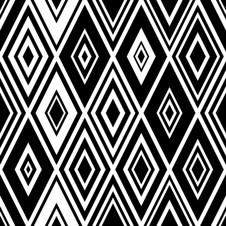 rhombus: Seamless Rhombus Pattern. Vector Monochrome Background