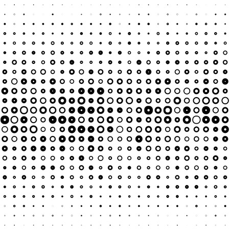 Seamless Circle and Stripe Pattern. Abstract Black and White Background. Vector Regular Texture Vettoriali