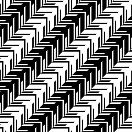 repeat structure: Seamless Geometric Pattern. Vector Black and White Texture