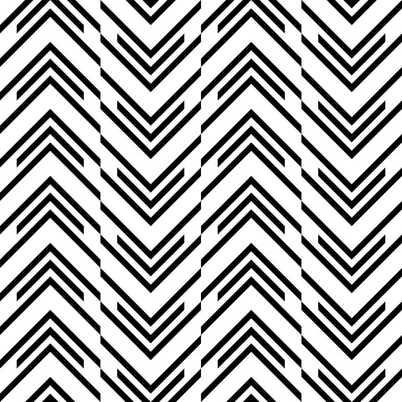 black background abstract: Seamless ZigZag Pattern. Abstract  Black and White Background. Vector Regular Texture Illustration