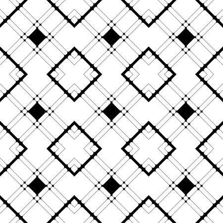 regular: Seamless Grid Pattern. Vector Black and White Background. Regular Texture Illustration
