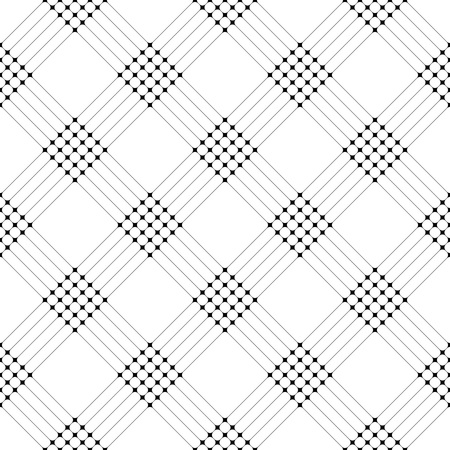 black background abstract: Seamless Grid Pattern. Vector Black and White Background. Regular Texture Illustration