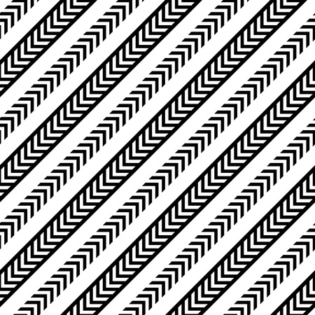regular: Seamless Arrow Pattern. Abstract Monochrome Background. Vector Regular Texture