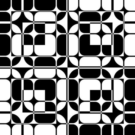 Motif de la grille transparente. Vecteur noir et fond blanc. Texture régulière Vecteurs