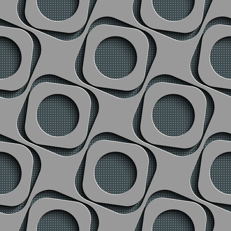 mesh texture: Seamless Square and Circle Pattern. Vector Regular Texture