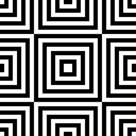 Motif carré sans couture. Résumé noir et fond blanc. Vector Texture Regular Vecteurs