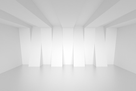 Empty White Room. Abstract Interior Background