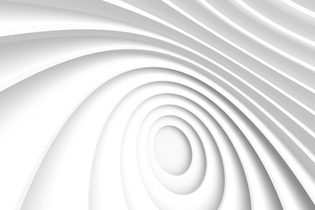 white abstract: 3d White Abstract Circular Background Stock Photo