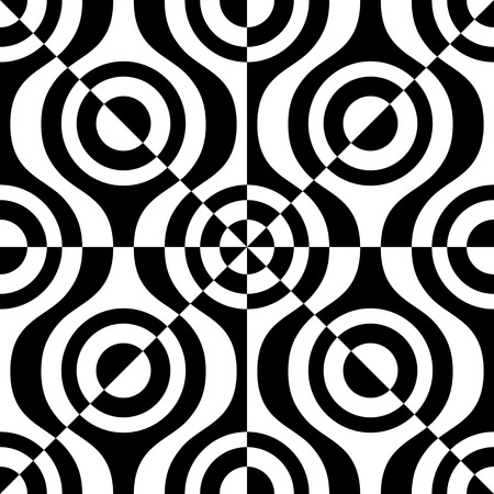 retro pattern: Seamless Geometric Pattern. Vector Black and White Texture