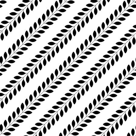 normal: Seamless Flower Pattern. Vector Monochrome Texture