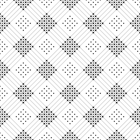 grid paper: Seamless Grid Pattern. Vector Black and White Background. Regular Texture Illustration