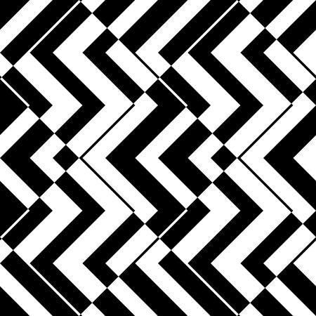 Seamless ZigZag Pattern. Abstract  Monochrome Background. Vector Regular Texture Illustration