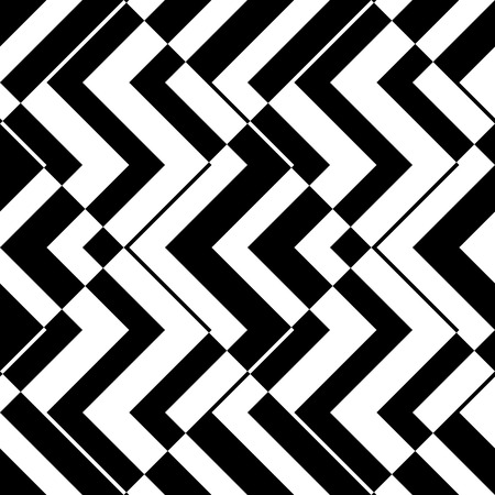 Seamless ZigZag Pattern. Abstract  Monochrome Background. Vector Regular Texture Vectores
