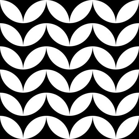 futuristic nature: Seamless Leaf Pattern. Vector Monochrome Texture