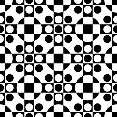 regular: Seamless Circle and Stripe Pattern. Vector Regular Texture
