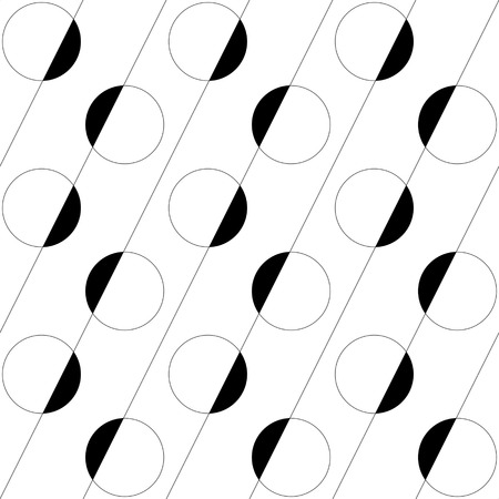 normal: Seamless Circle and Line Pattern. Vector Regular Texture