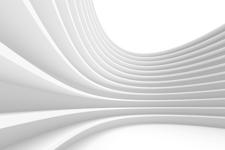architecture: Abstract Architecture Background. White Circular Building Stock Photo