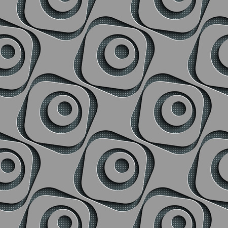 circle pattern: Seamless Square and Circle Pattern. Vector Regular Texture