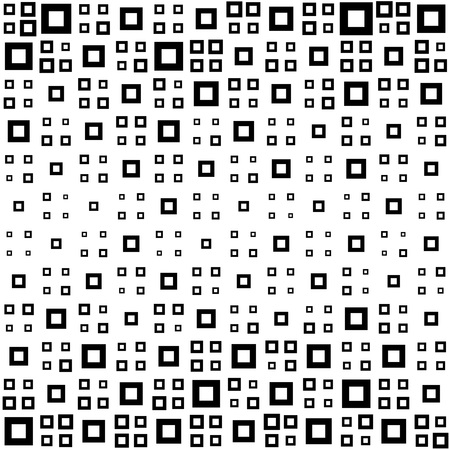 abstract seamless: Seamless Square Pattern. Abstract Black and White Background. Vector Regular Texture
