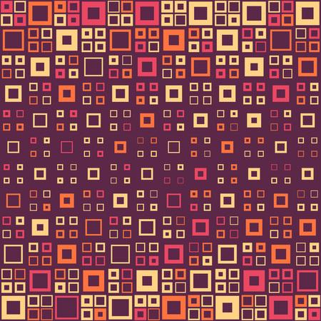 Naadloos Vierkant Patroon. Abstracte Achtergrond. Vector Regelmatige Texture