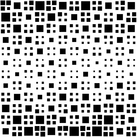 square abstract: Seamless Square Pattern. Abstract Black and White Background. Vector Regular Texture
