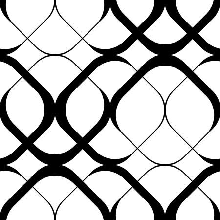 arte abstracto: Cuadrícula sin fisuras. Vector Negro y fondo blanco. Textura regular Vectores