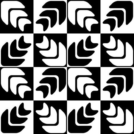 regular: Seamless Star Pattern. Vector Black and White Background. Regular Texture